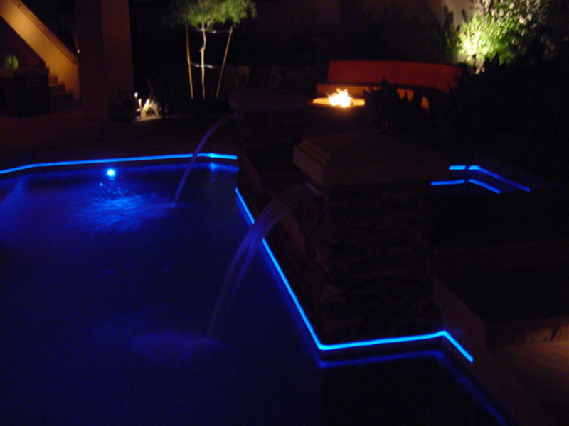 Fiber Optic Pool Perimeter Fiber Creations