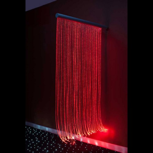 fiber optic sensory wall cascade