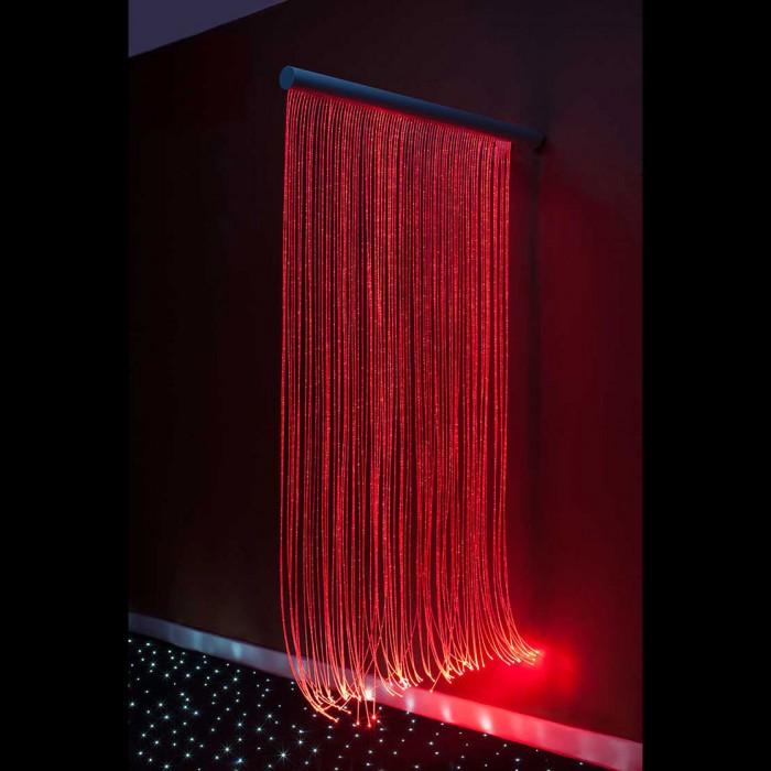 fiber optic sensory wall cascade