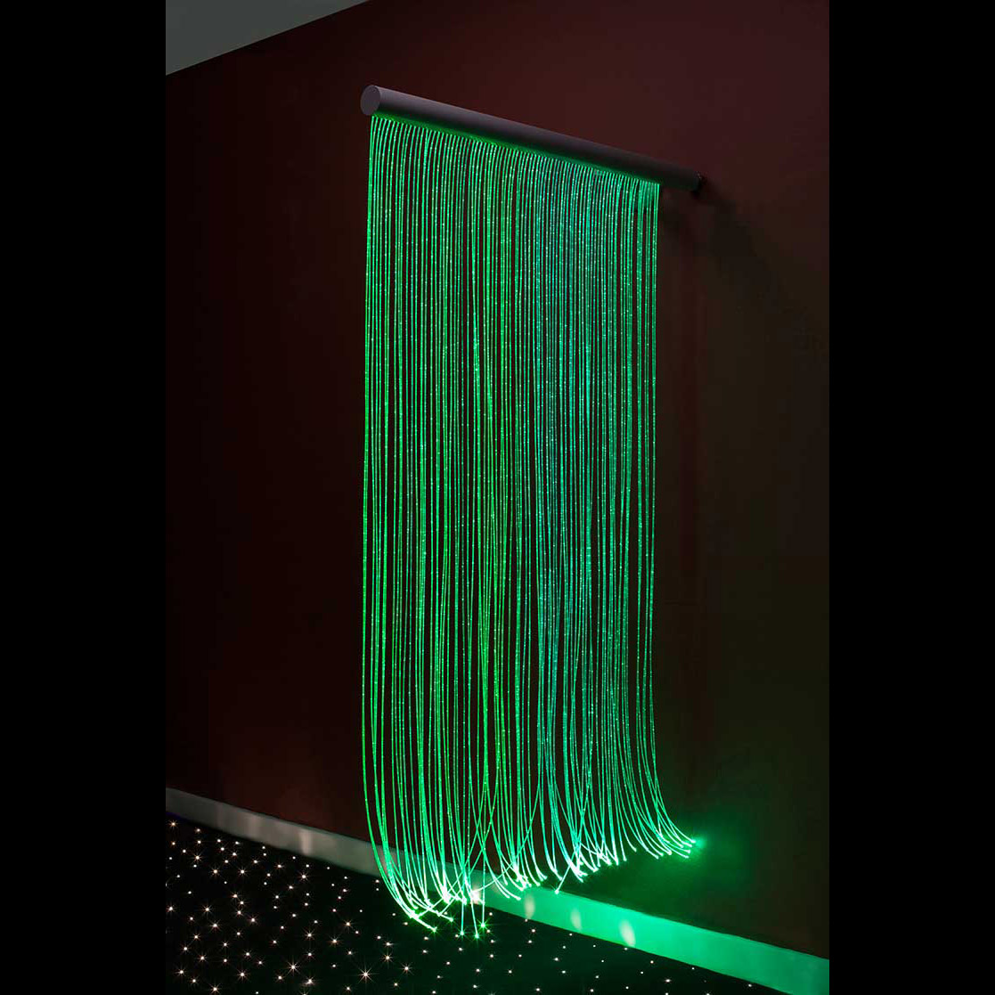 Fiber Optic Sensory Wall Cascade Fiber Creations