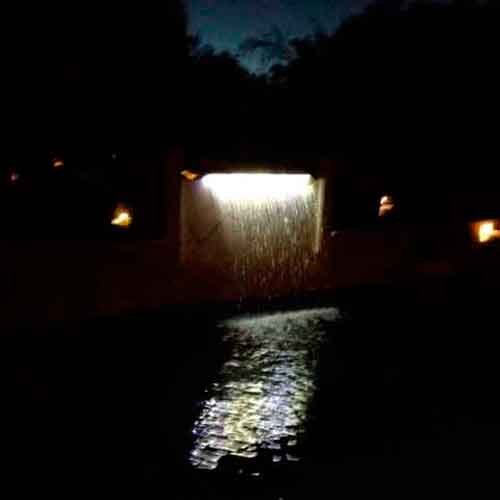 Lighted Rain Waterfall