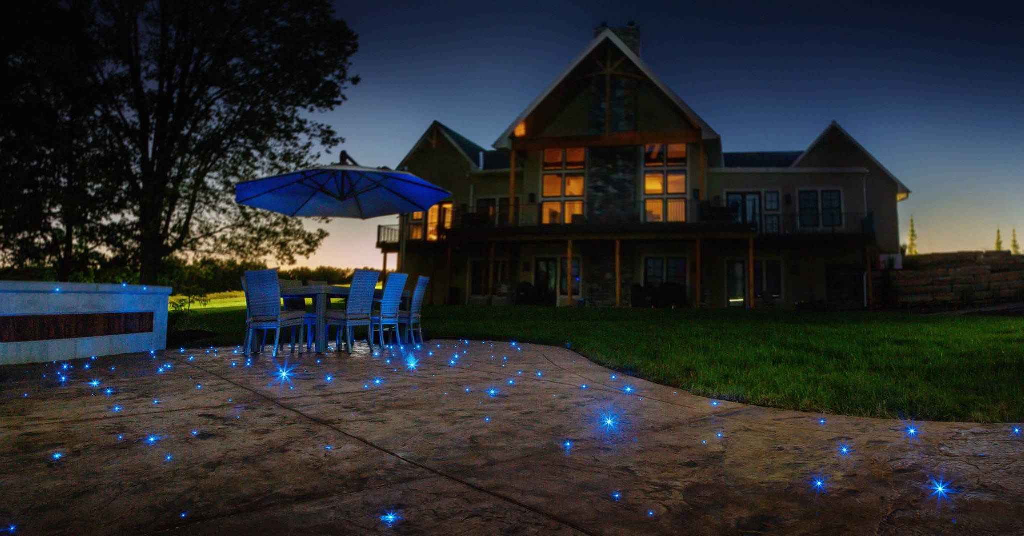 Fiber optics supplied by Fiber Creations and installed by Fleshman Construction, Inc.
